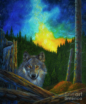 Animals Paintings - Wolf by Veikko Suikkanen