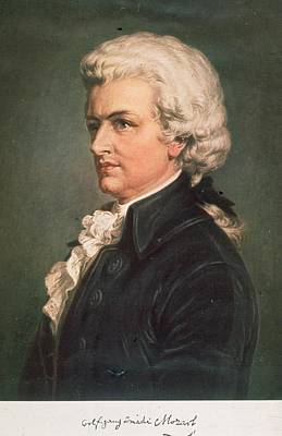 Wolfgang Mozart Art Print by Hulton Archive