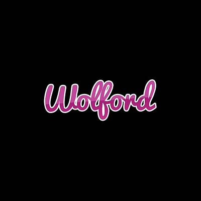 Digital Art - Wolford #wolford by Tinto Designs