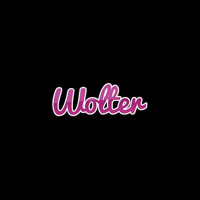 Digital Art - Wolter #wolter by Tinto Designs