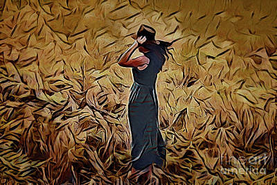 Painting - Woman A18-4 by Ray Shrewsberry