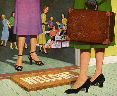 People Digital Art - Woman Arriving At Party by Graphicaartis