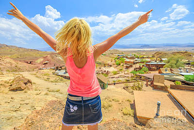 Photograph - Woman At Calico California by Benny Marty