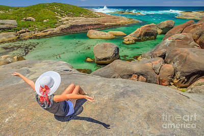 Photograph - Woman At William Bay Np by Benny Marty