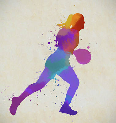 Sports Paintings - Woman Basketball Player by Dan Sproul