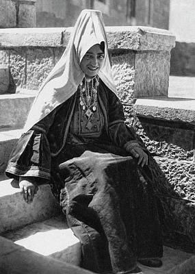 Photograph - Woman From Bethlehem Eearly 20th Century by Munir Alawi