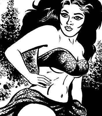 People Digital Art - Woman In A Bikini by Csa Images