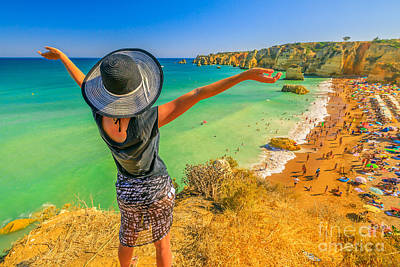 Photograph - Woman In Algarve Coast by Benny Marty