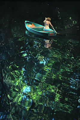 Photograph - Woman In Boat by John W Banagan