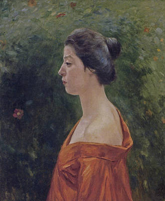 Painting - Woman In Red Clothing by Kuroda Seiki