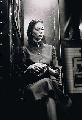 Photograph - Woman In Subway Seat In New York City by Alfred Gescheidt