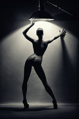 Man Cave - Woman in the spotlight 2 by Johan Swanepoel