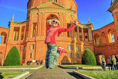 Photograph - Woman Jumping At San Luca by Benny Marty