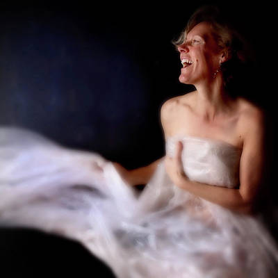 Photograph - Woman Laughing And Dancing by Lisa Noble Photography