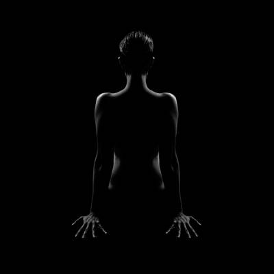 Photograph - Woman Naked From Behind by Www.scribart.de - Martin Scriba - Photographer