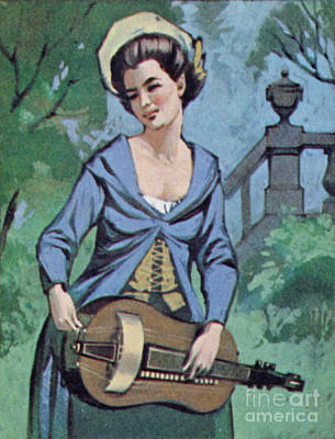 Painting - Woman Playing The Hurdy Gurdy  by Angus McBride