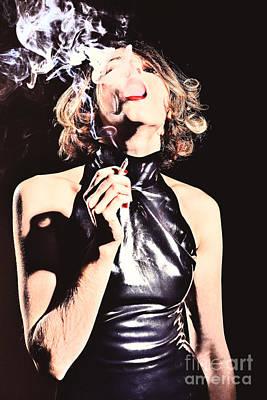 Woman Smoking A Cigarette Art Print