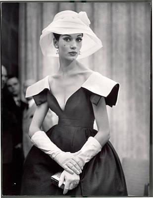 fe512217e38 Photograph - Woman Wearing Wide Shoulder Fashion by Nina Leen