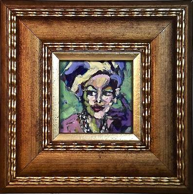 Painting - Woman With A Hat Number One by Les Leffingwell