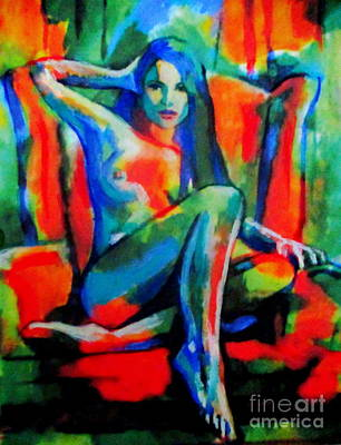 Painting - Woman With Red Chair by Helena Wierzbicki