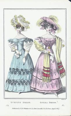 Dress Digital Art - Women Wearing Evening And Opera Dress by Archive Photos