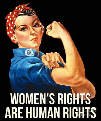 Digital Art - Womens Rights Are Human Rights Tshirt by Flippin Sweet Gear