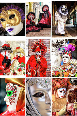 Photograph - Wonders Of Carnival In Venice by John Rizzuto