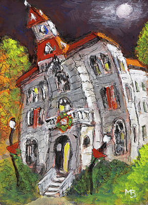 Painting - Wonky Courthouse by Mike Bergen