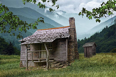 Photograph - Wood Cabin In The Hills by Randall Nyhof