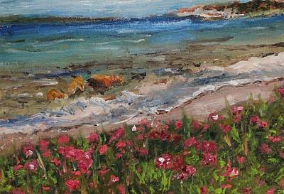 Painting - Wood Neck Beach View by Michael Helfen