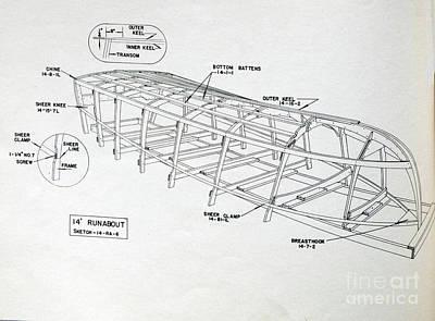 Photograph - Wooden Boat Plans by Randy J Heath
