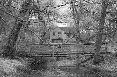 Photograph - Wooden Bridge Over Stream - Waterloo Village by Christopher Lotito