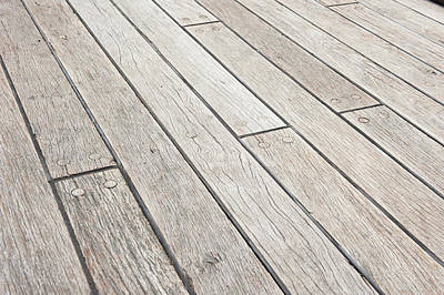 Photograph - Wooden Decking Planks by Helen Northcott