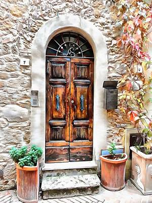 Photograph - Wooden Door Pienza by Dorothy Berry-Lound