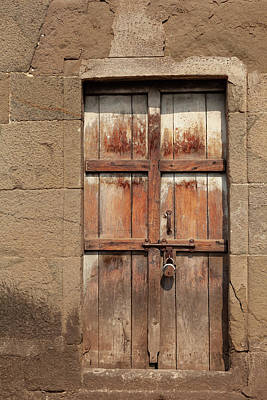 Photograph - Wooden Doorway by Fran Riley
