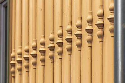 Photograph - Wooden Facade Jugendstilk by ReDi Fotografie