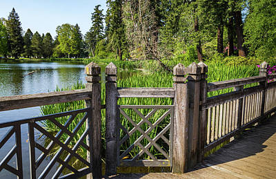 Wall Art - Photograph - Wooden Fence At Crystal Springs Rhododendron Garden by Roslyn Wilkins