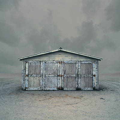 Photograph - Wooden Garage  Storage Unit, Trona, Ca by Ed Freeman