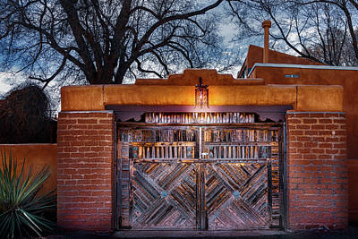 Photograph - Wooden Gate In The Eve by Robert FERD Frank