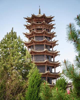 Photograph - Wooden Pagoda Temple Zhangye Gansu China by Adam Rainoff