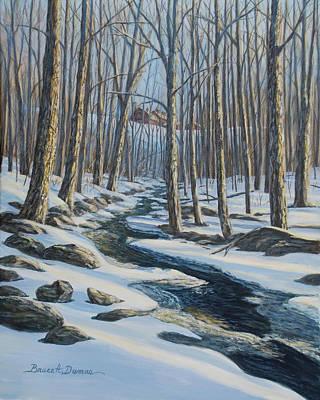 Painting - Woodland Farm Stream by Bruce Dumas