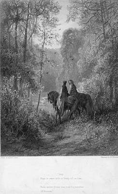 Woodland Lovers Art Print by Hulton Archive