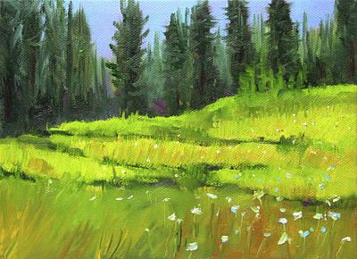Painting - Woodland Meadow by Nancy Merkle