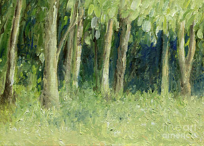 Painting - Woodland Tree Line by Laurie Rohner