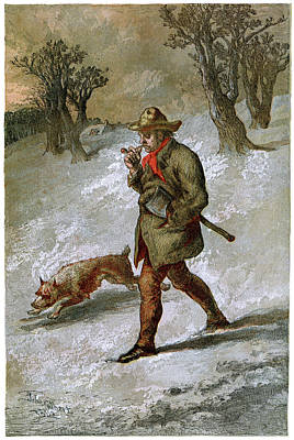 Traditional Clothing Digital Art - Woodsman And His Dog by Duncan1890