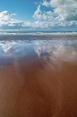 Mixed Media - Woolacombe Beach by Smart Aviation