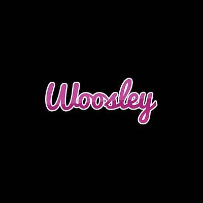 Digital Art - Woosley #woosley by Tinto Designs