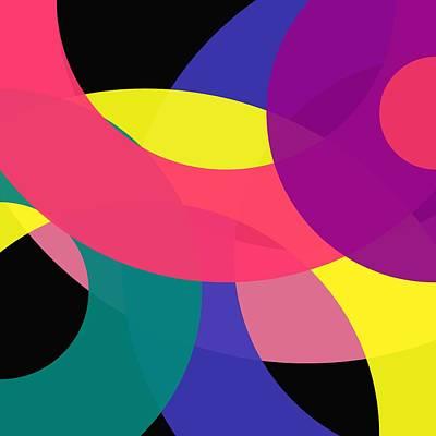 Digital Art - Word Circle - Spring - On Black by REVAD David Riley