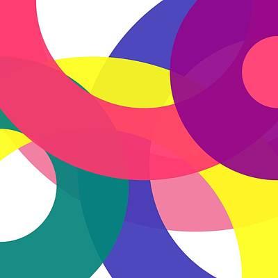 Digital Art - Word Circle - Spring - On White by REVAD David Riley