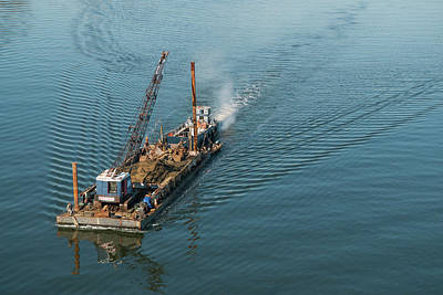 Photograph - Workboat And Barge by Mark Duehmig